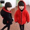 Ropa de 2016 Nuevos niños Niñas Chaqueta de Algodón Acolchado Larga Invierno de Los niños ropa Para Niños Ropa de Bebé Para Agregar más Abrigo De Lana