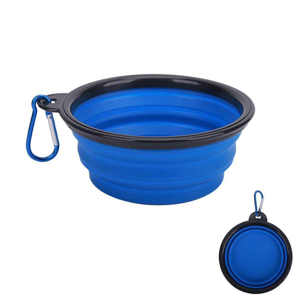 blue silicone travel bowl
