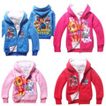 Paw Dog Fashion Winter Thickening Cartoon Girls Boys Cotton Fleece Warm Jackets Kids Casual Hooded Coat 4colors