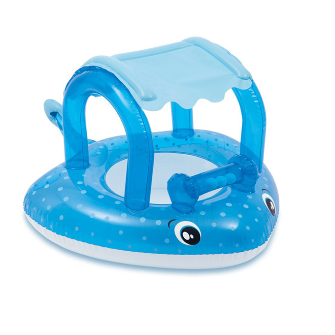 Fish Swim Ring On Holiday sunshade Floating Summer Kids Child Seat Inflatable Swimming boat toys Water pool tube Life buoy