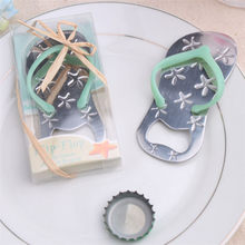 Bottle Opener Starfish Flip-flop Shape Alloy Tool Wedding Party Birthday Baby Shower Favor Gift Souvenirs L4(China)