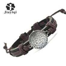 New Fashion Hot Sales Cuff Charm Genuine Leather Bracelets & Bangles For Men And Woman Bracelets Bangles Jewelry Free Shipping