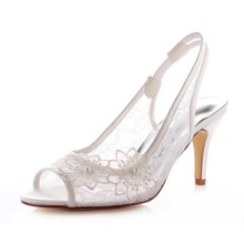 Spring Autumn Ladies Sandals Women's Wedding Hells Bridals and Bridesmaid Shoes Lady's 8.0cm OL Commute Shoes Party 183-36