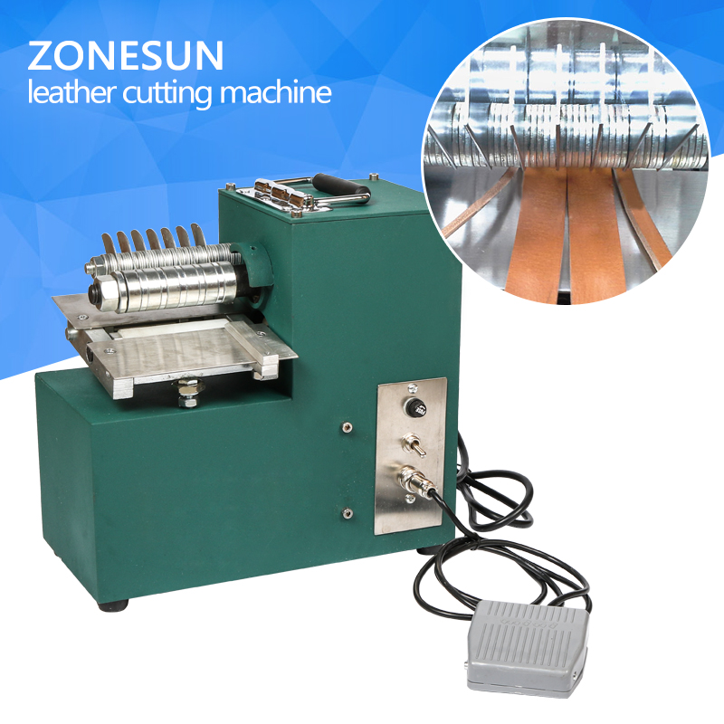 ZONESUN Single Head Leather Cutting ,leather slitter,shoe bags straight paper cutter, Vegetable tanned leather slicer round slitter blades for paper manufacturing and converting