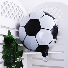 5 Pcs 18 Inch Football Aluminum Foil Balloon Soccer Metallic Balloons Decoration for Birthday Party Customized design