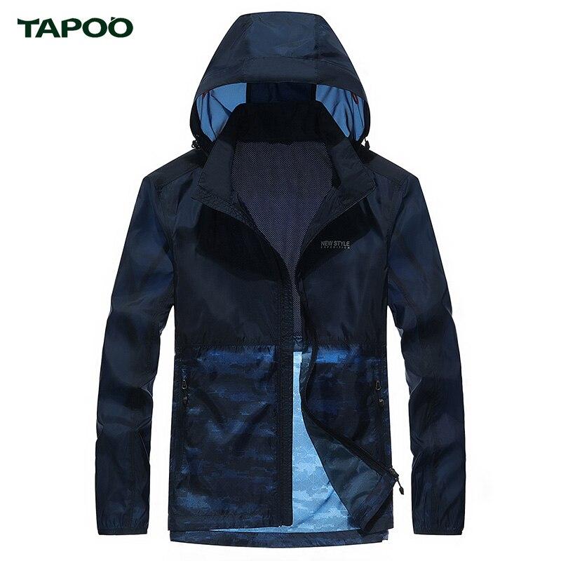 TAPOO Spring Summer Skin Jacket Men Clothing Ultra Thin Breathable Fashion Sapphire Gray Jackets Sunscreen Jackets