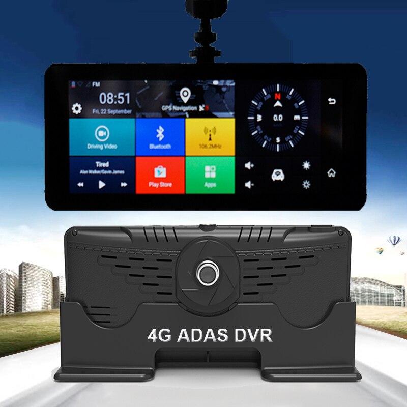 1080P HD 4G Wi-Fi Видеорегистраторы для автомобилей Камера Android 5,1 gps навигации ADAS Remote Monitor видеокамера двойной Len регистраторы