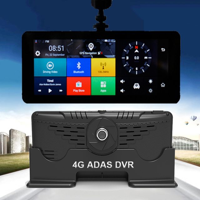 1080P HD 4G Wifi Car DVR Camera Android 5.1 GPS Navigation ADAS Remote Monitor Camcorder Dual Len Dash cam