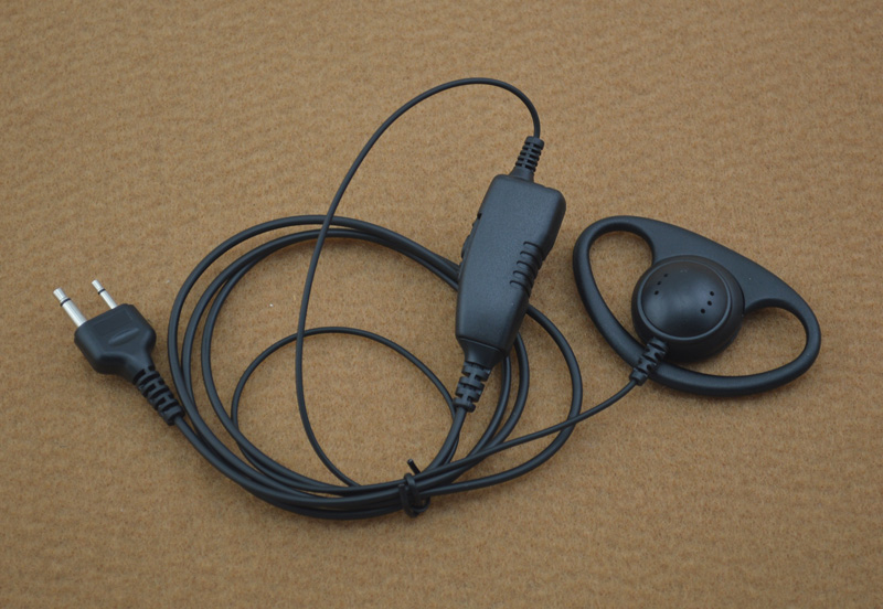 S/S1 Plug Connctor D-ring 1-Wire Earpiece MIC With PTT (Push To Talk) For ICOM IC-F11 IC-F21 IC-V82 IC-U82 VERTEX VX-200