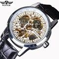 Победитель классический ретро дизайн прозрачный золотой корпус мужские часы Топ бренд Роскошные автоматические мужские механические часы...