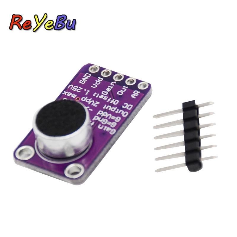 Max9814 Electret Microphone Amplifier Module Agc Auto Gain Control for Arduino Purple
