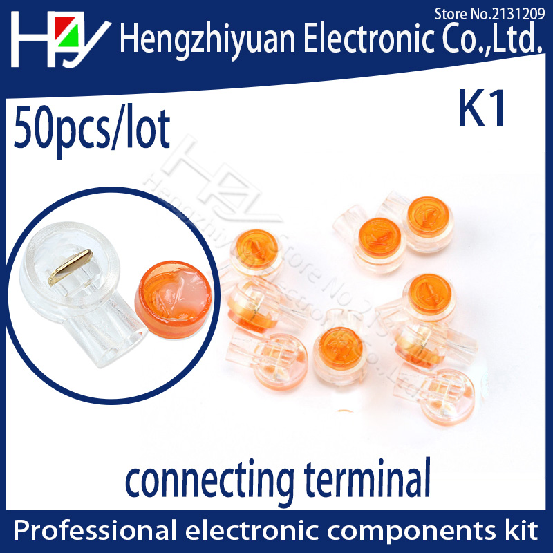 Hzy 50pcs/lot Rj45 Connection Terminals K1 Connector Crimp Connector Waterproof Wiring Ethernet Cable Telephone Cord Terminals