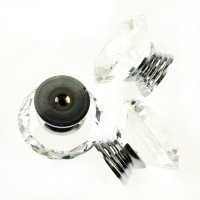 Promotion 10Pcs 40mm Crystal Glass Diamond Shape Cabinet Knob Drawer