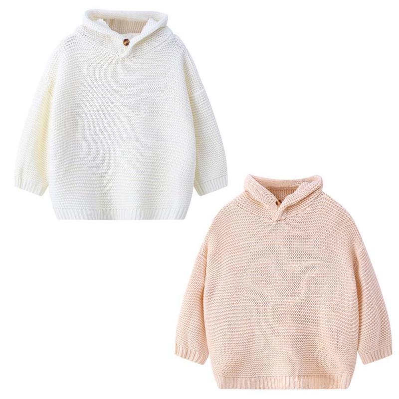 Fashional Winter Warme Kleidung Für Kinder Koreanische Kinder Mädchen Hasenohren Kapuze Langarm-strickpullover Lieblings Chrismas Geschenk