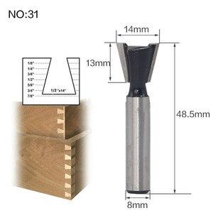 Image 3 - 1pc 8mm Shank szablon Trim zawias dłutowanie frezarka do drewna Bit frezy jaskółczy ogon do drewna narzędzia do obróbki drewna tanie cena