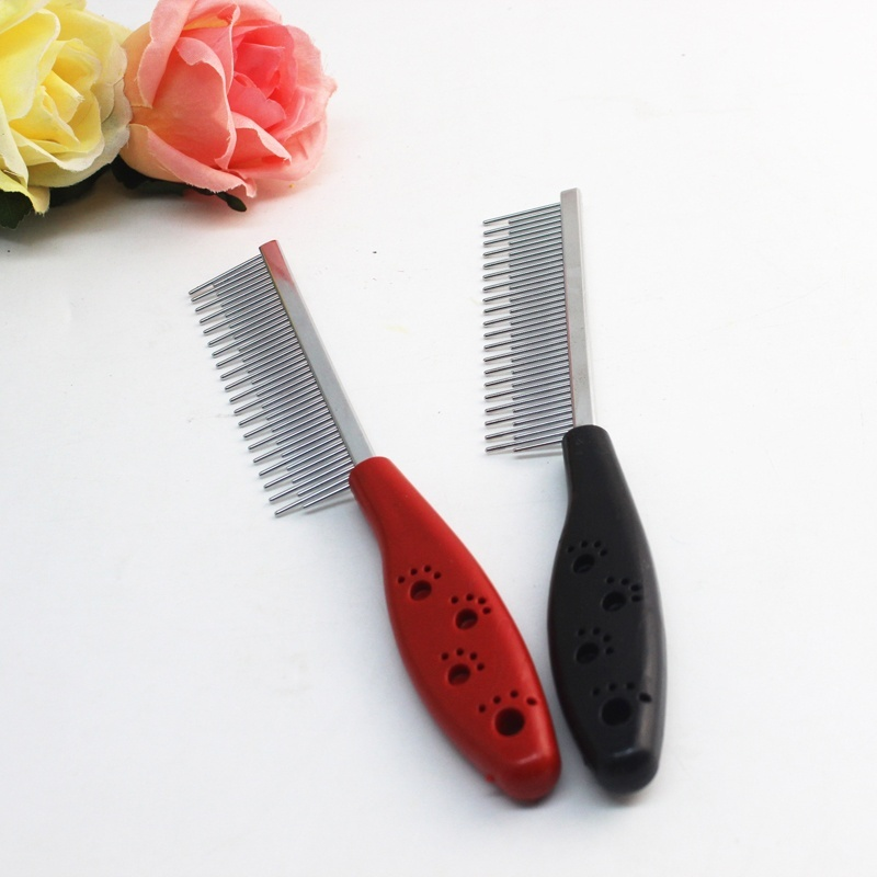 High Quality Pet Trimmer Hair Grooming Comb Flea Shedding Brush Puppy Dog Stainless Steel Grooming Brush Clean Tool #5