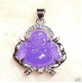 2 db ázsiai ékszer lila jade szerencsés buddha medál nyaklánc - Divatékszer