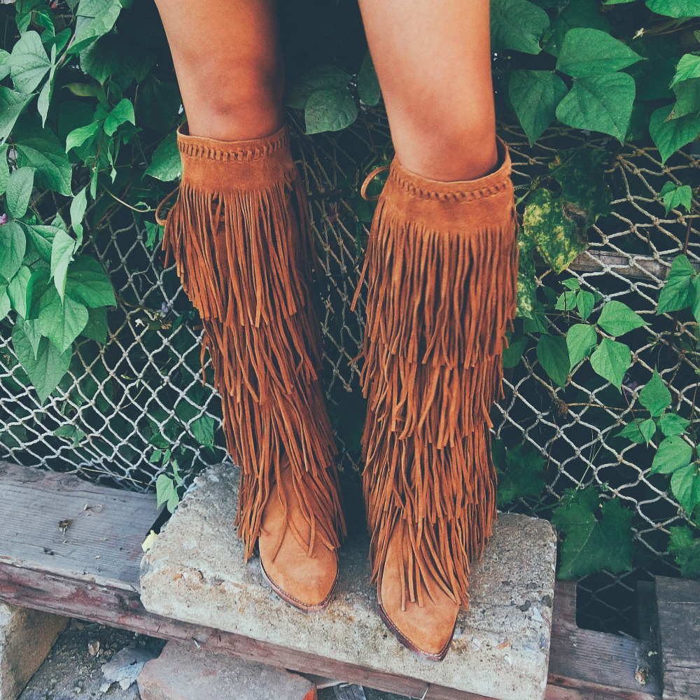 Online Get Cheap Fringe Boots Suede -Aliexpress.com | Alibaba Group
