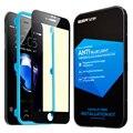 Protetor de tela para iphone 7/7 plus, esr anti blue-ray filme protetor de tela de vidro de proteção da cobertura total para iphone7 7 plus