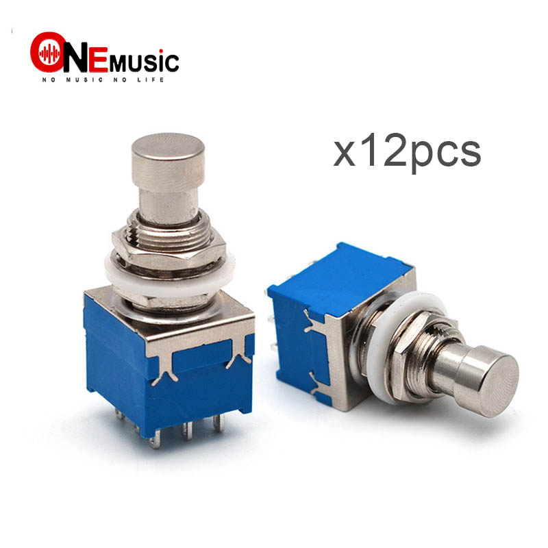 Beautiful Guitar Pedal Button Switch 3pdt 9-pin Stomp Foot Pedal Bypass Switch Guitar Effects Blue Black Fine Quality Musical Instruments