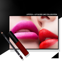 Фотография Makeup Matte Lipstick Long-Lasting Liquid Lipstick Waterproof Makeup Gloss Pigment Kit Lipgloss  Stick Sexy Beauty Cosmetic