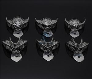 Image 2 - 歯科ラボ 6 ピース/セット印象トレー義歯楽器ステンレス鋼の印象トレイ