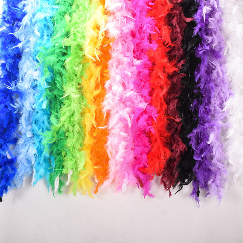 200pcs/lot EMS Free Shipping Cheap Wholesale 180cm 40g Wedding Carnival Christmas Halloween Party Supplies Turkey Feather Boas