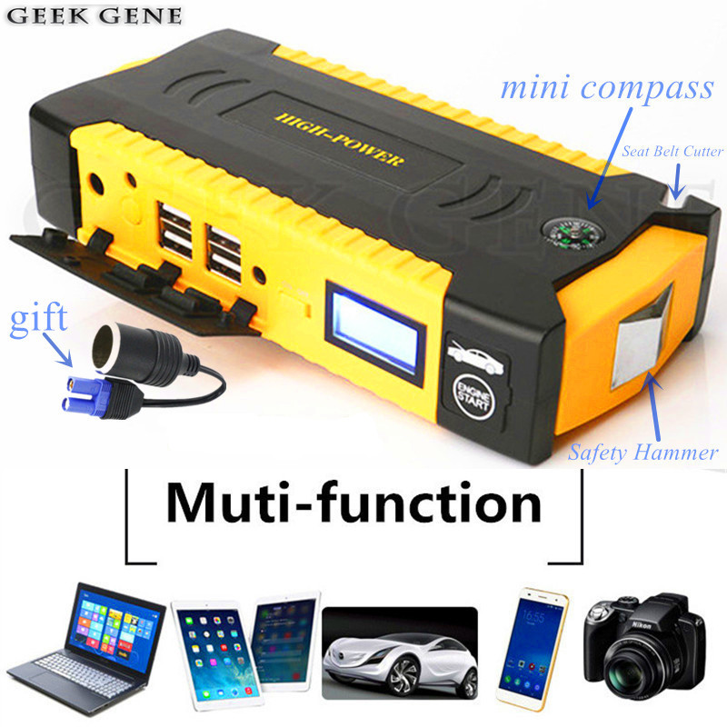 Multifunction Car Jump Starter Portable 12V Power Bank Emergency Starting Device Diesel Charger For Car Battery Booster Buster цена