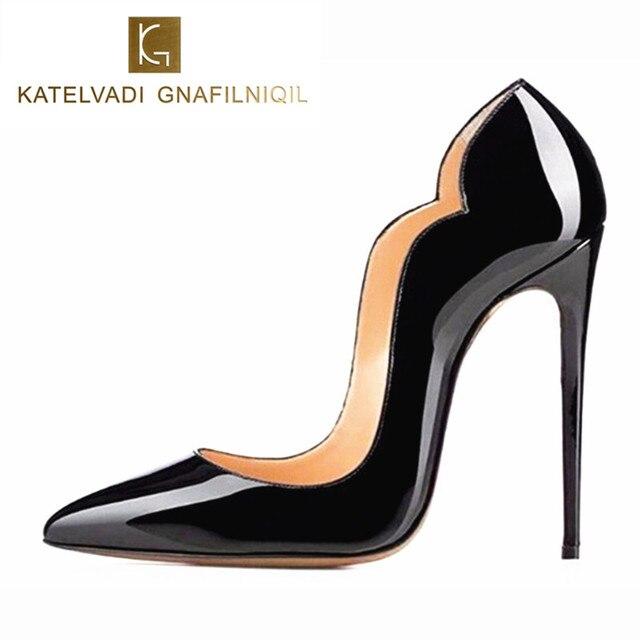 Модные женские туфли-лодочки, женская обувь на высоком каблуке-шпильке, женские  туфли 48f1020251c