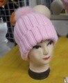 Moda unissex de tricô chapéu com bola de pêlo frete grátis