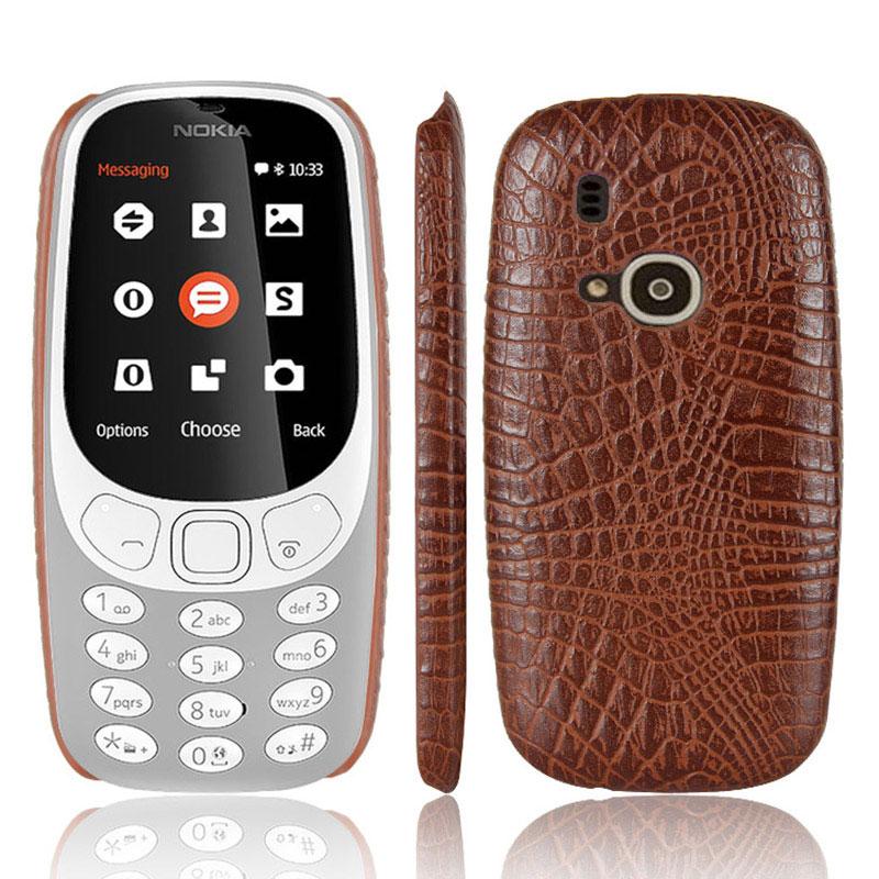For Nokia 3310 2017 Phone Case Fashion Crocodile Skin Leather Back
