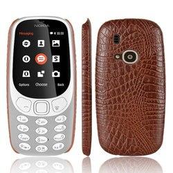 For Nokia 3310 2017 Phone Case Fashion Crocodile Skin Leather Back Cover For For Nokia 3310 Capa Nokia3310(2017) 2.4