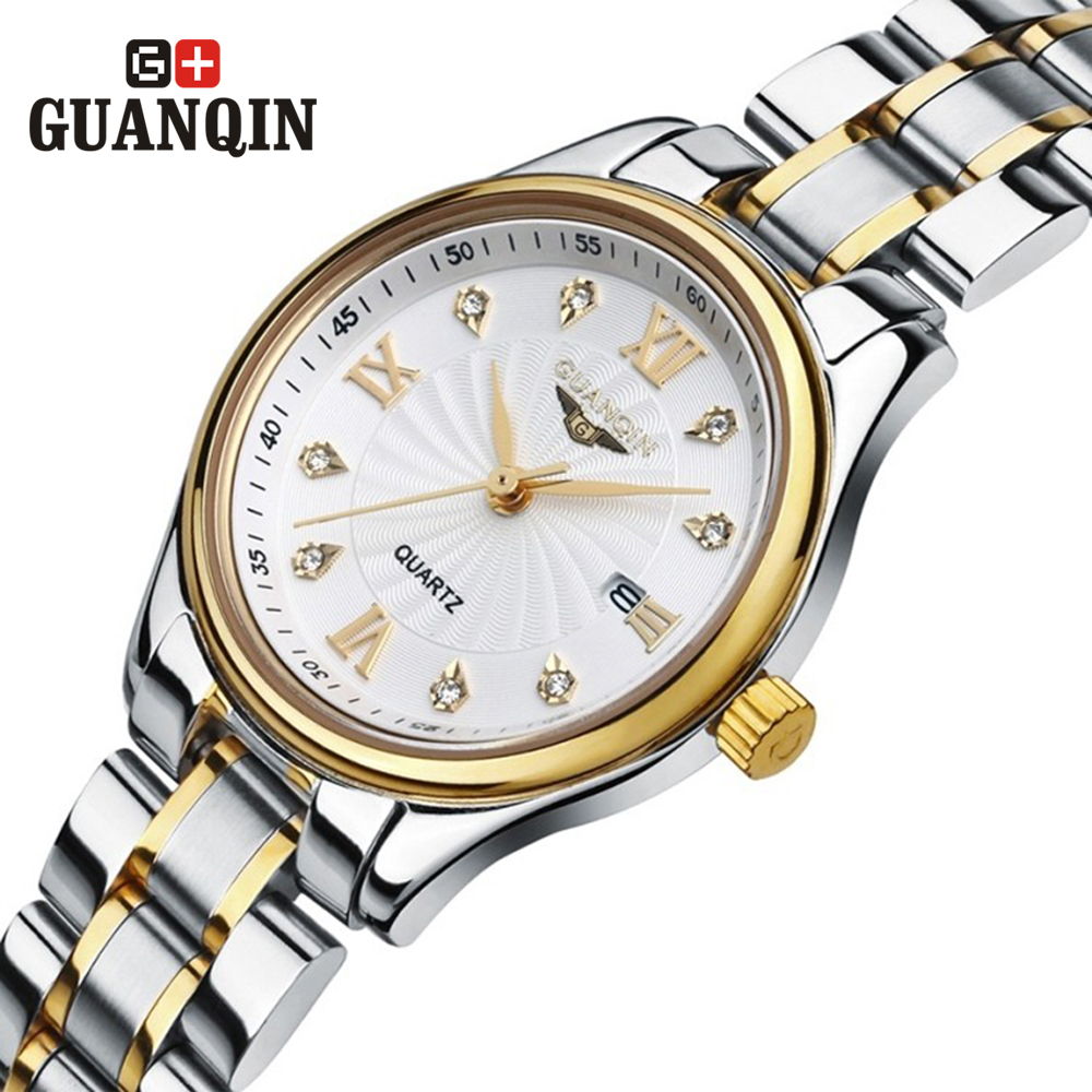 ФОТО GUANQIN women's watches quartz watch dress women crystal vintage relogio feminino classic montre femme quartz-watch Business