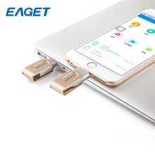 hot Eaget I80 pen drive 3.0 usb 3.0 MFI usb flash drive 32GB 64GB 128GB for iphone pendrive for ipad External Storage usb stick