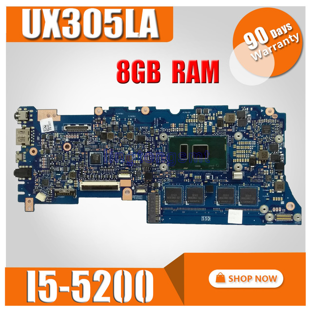 UX305LA carte mère d'ordinateur portable pour Asus UX305 UX305L U305L U305LA carte mère 100% testé avec SR23Y i5-5200U 8 GB RAM
