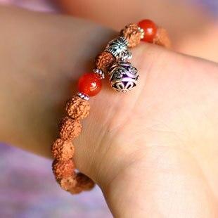 New Arrival Tibetan Women Charm Onyx Women Bracelets & Bangle Rudraksha Beads Bracelets for Men Lucky Wholesale Jewelry