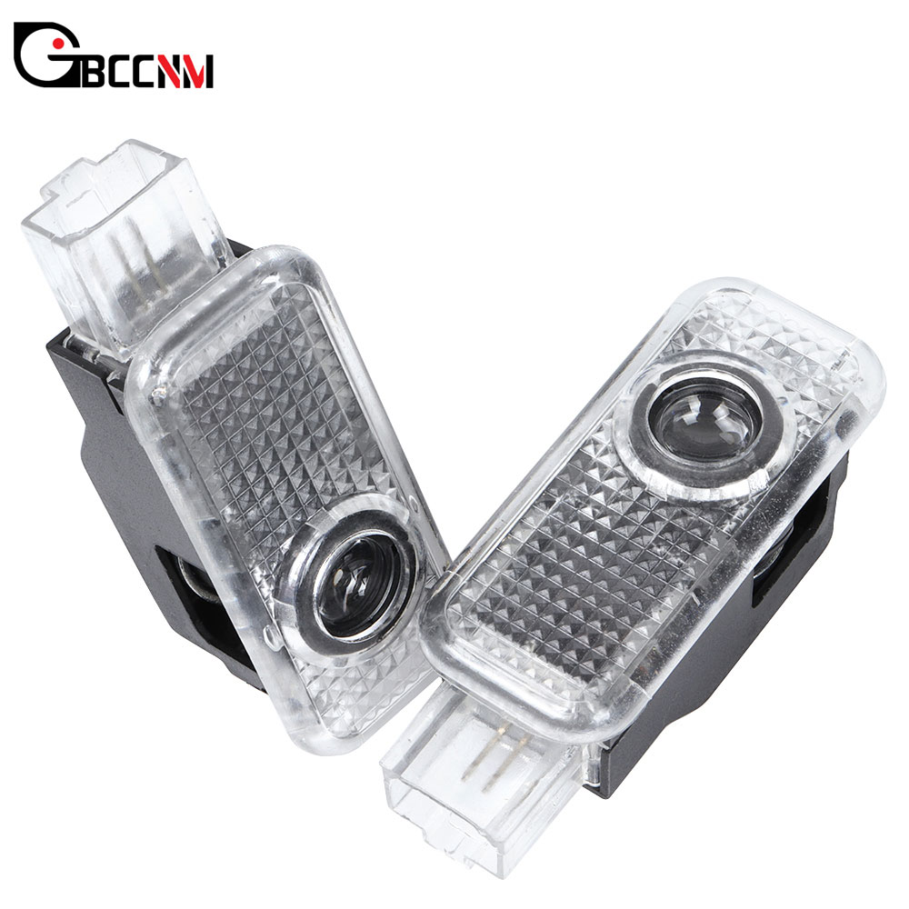 2x LED Car Logo Door Welcome Projector Light For Audi A1 A3 8P A4 B5 B6 B7 B8 A5 A6 C5 C6 C7 A7 A8 Q3 Q5 Q7 TT V8 8V R8 8L 80 90 image