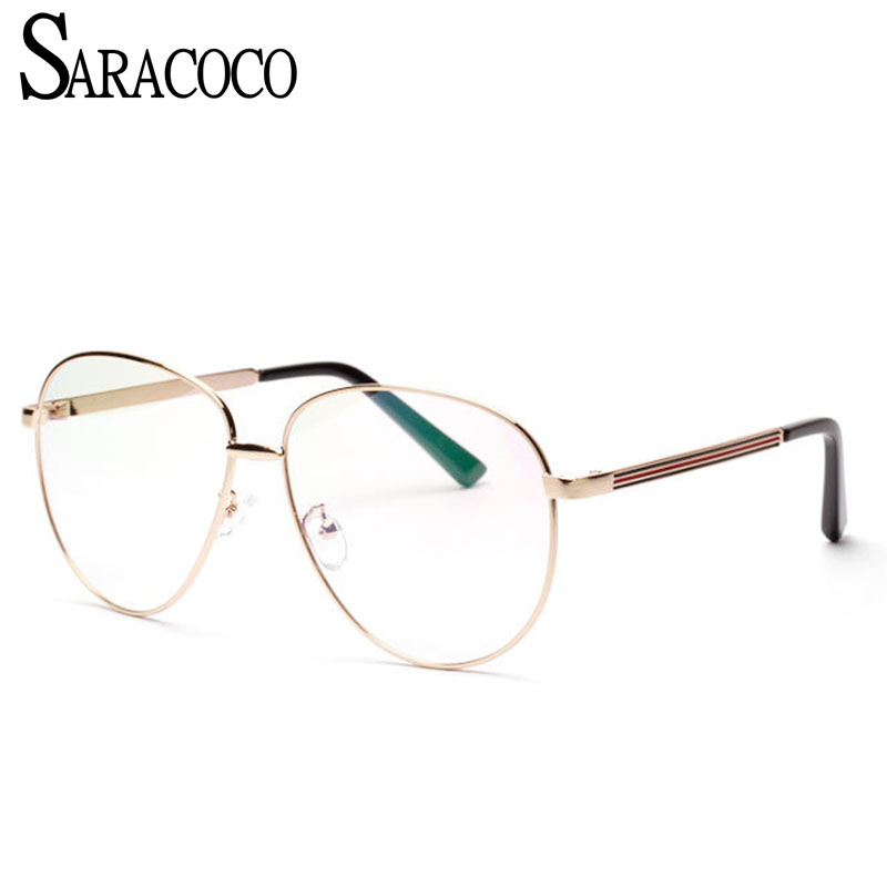 Apparel Accessories Painstaking Saracoco Gold Eye Glasses Frames Computer Goggles Women/men Clear Lens Anti-blue Computer Protective Eyeglasses Frame R819 Men's Glasses