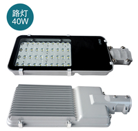 Wholesale Free Shipping 12V 24V AC85 265V 40W Led Street Light IP65 Bridgelux 130lm W Chips