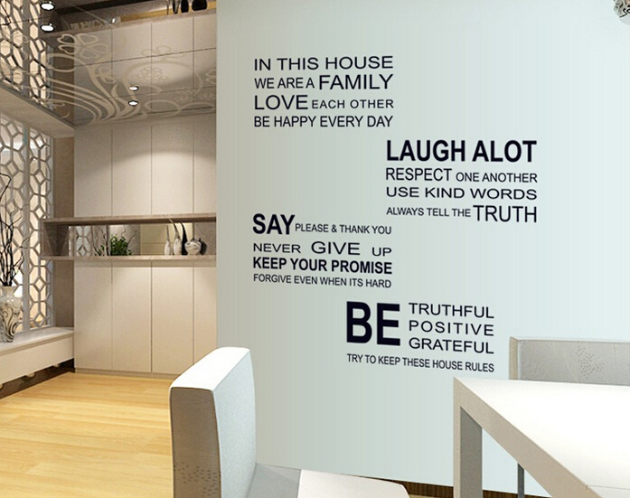 2014 vintage english letter wall stickers vinyl living for Living room 6 letters