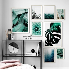 Forest Cactus Monstera Leaves Succulents Plants Nordic Posters And Prints Wall Art Canvas Painting Pictures For Living Room