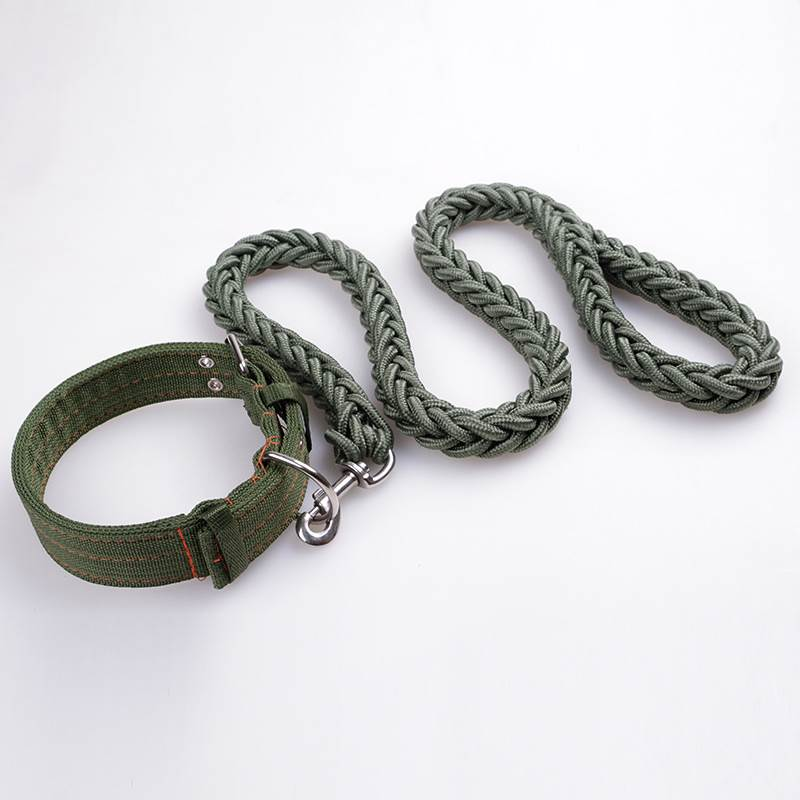 Pet Dog Collars Large Dog Traction rope Chain Nylon rope braiding Leashes Harnesses Leads Pet Accessories Supplies Products