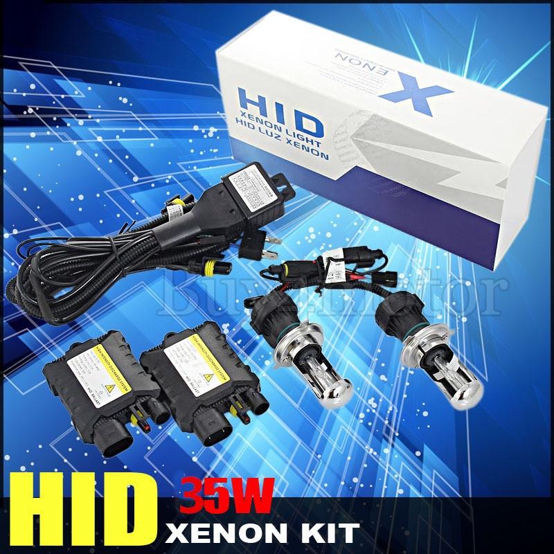 все цены на 35W H4 bixenon HID Xenon Conversion Kit high low H/L beam Slim Ballast Bulb Car Headlight 4300K 5000K 6000K 8000K 10000K 12000K онлайн