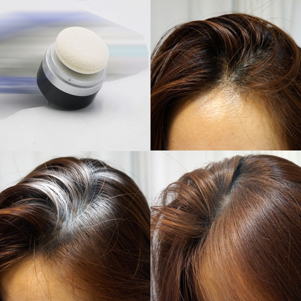 Quick Hair Dry Shampoo Powder Flash Fix Oily Hair Greasy with Cleaning Sponge for Laziness People Instantly Hair Styling TSLM2