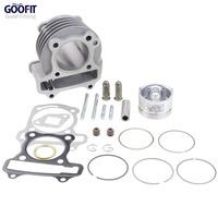 GOOFIT Performance Big Bore 47mm Cylinder Kit GY6 80cc For 139QMB ATV Scooter Moped Go Kart