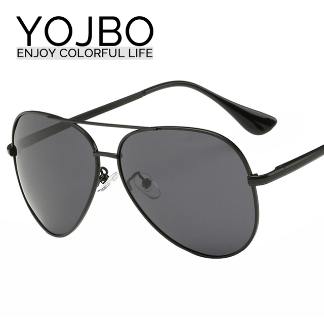 YOJBO Men Polarized Sunglasses Alloy Brand Designer Mirror Sun Glasses 2017 Women Driving Cheap Black So Real Oculos