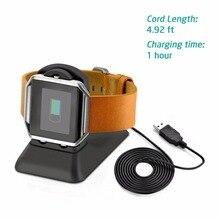 Suporte de Carga para Fitbit Inteligente do Telefone 2 em 1 Multifunções Portátil Chama Relógio Inteligente Suporte do Telefone Usb Cabo Carregador de Viagem Uso