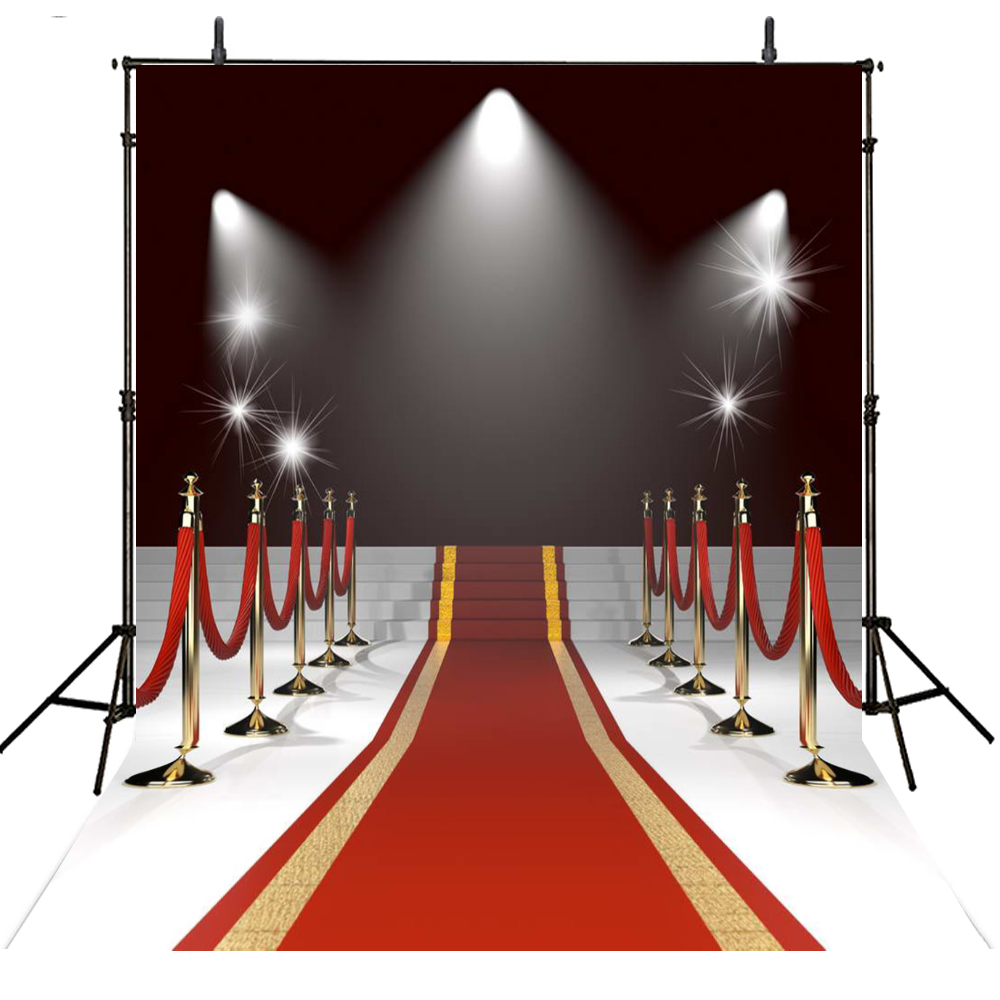 Red Carpet Wedding Photography Backdrops Vinyl Backdrop For Photography Sparkle Star Hollywood Background For Photo Studio retro background christmas photo props photography screen backdrops for children vinyl 7x5ft or 5x3ft christmas033