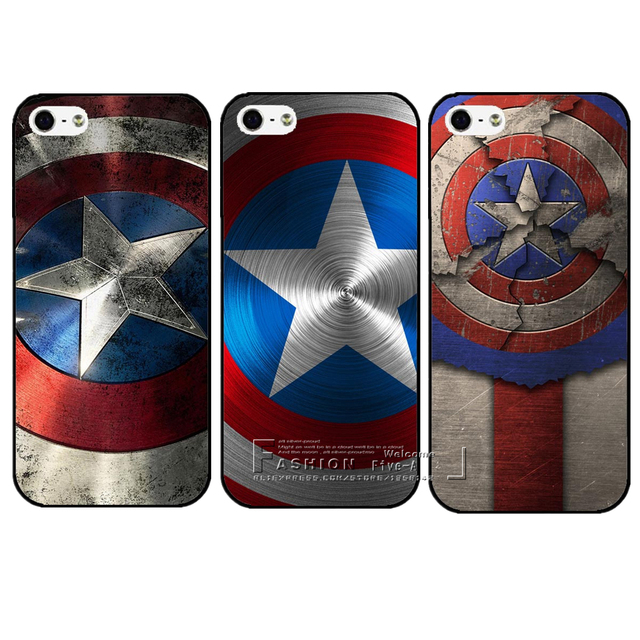 outlet store 3b2e0 017c2 US $0.86 33% OFF|New Arrival Marvel Hero Captain America Hard Plastic  Protective Back Case Cover For Apple iPhone X 4 4S 5 5S SE 5C 6 6S 7 8  Plus-in ...