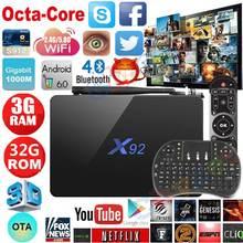 X92 Android 6.0 TV Box 2 г/16 г 3 г/32 г Amlogic S912 Octa core 4 К H.265 XBMC ОТА 2.4 г/5 ГГц Двойной Wi-Fi IPTV Media Player Smart TV Box